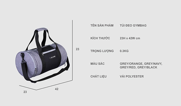 TÚI THỂ THAO SIMPLE CARRY GYMBAG 17