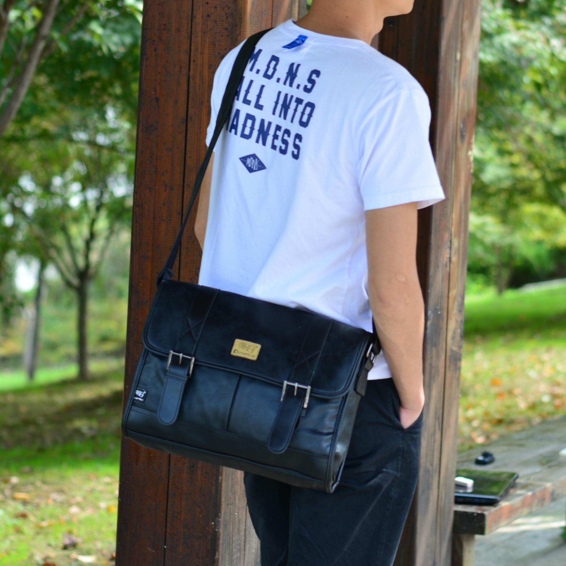 Túi đeo chéo Da THREE BOX 06 13