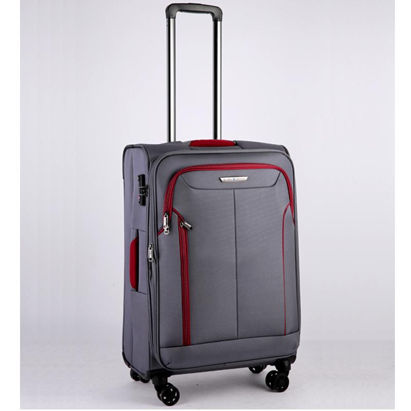 Vali kéo vải Glossy Diamond GL1801 size 24 Xám Ghi 10