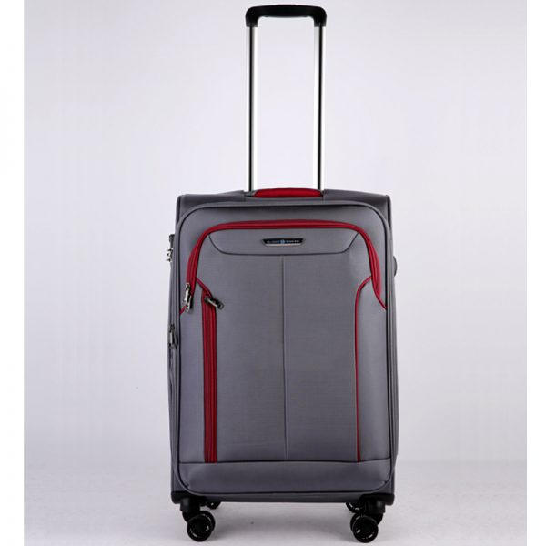 Vali kéo vải Glossy Diamond GL1801 size 24 Xám Ghi 1