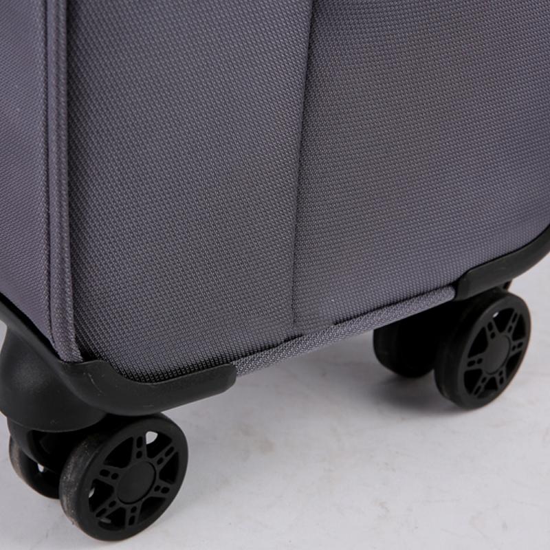 Vali kéo vải Glossy Diamond GL1801 size 24 Xám Ghi 17
