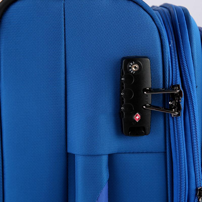 Vali kéo vải Glossy Diamond GL1801 size 20 Xanh 12