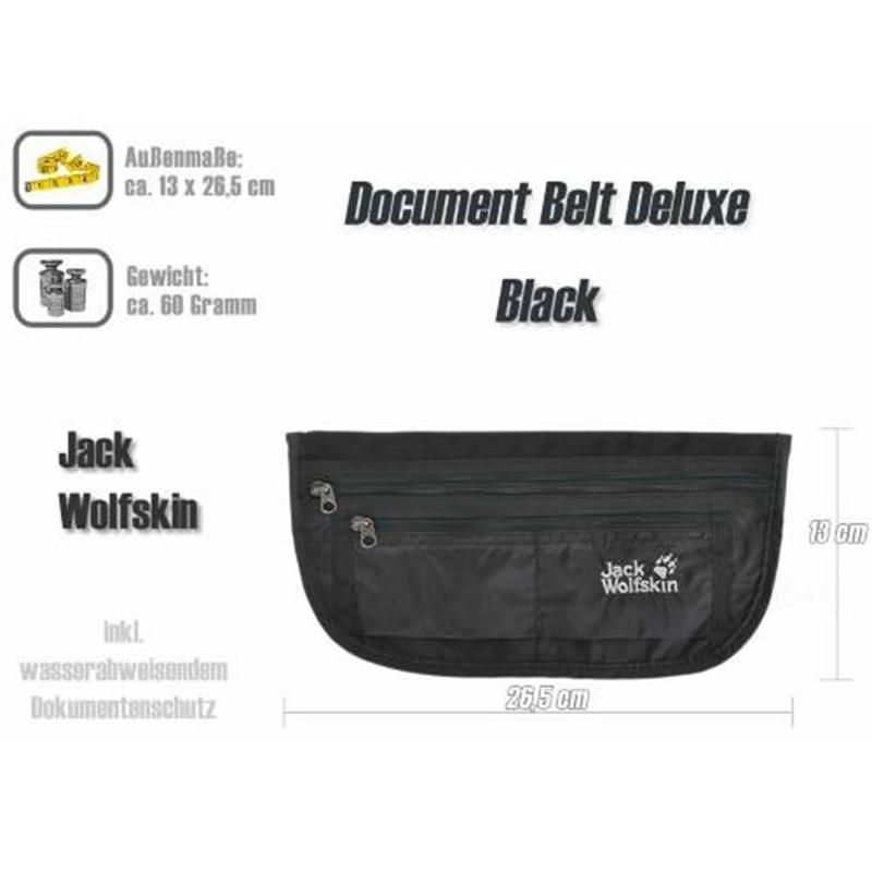 Túi bao tử Jack Wolfskin Document Belt De Luxe Black 12