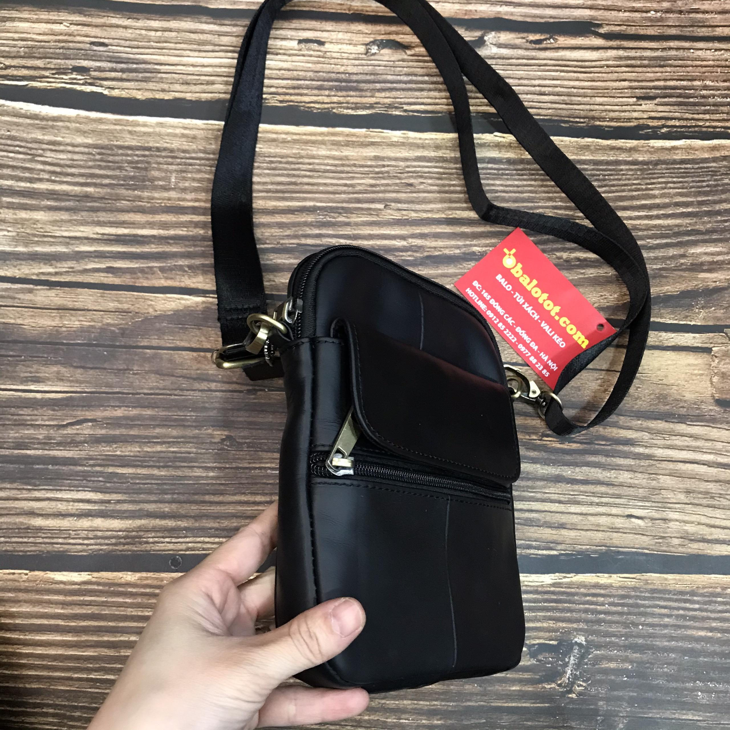 Túi Nam Da Bò Thật Mini Tiện Dụng Thời Trang TD7350 14