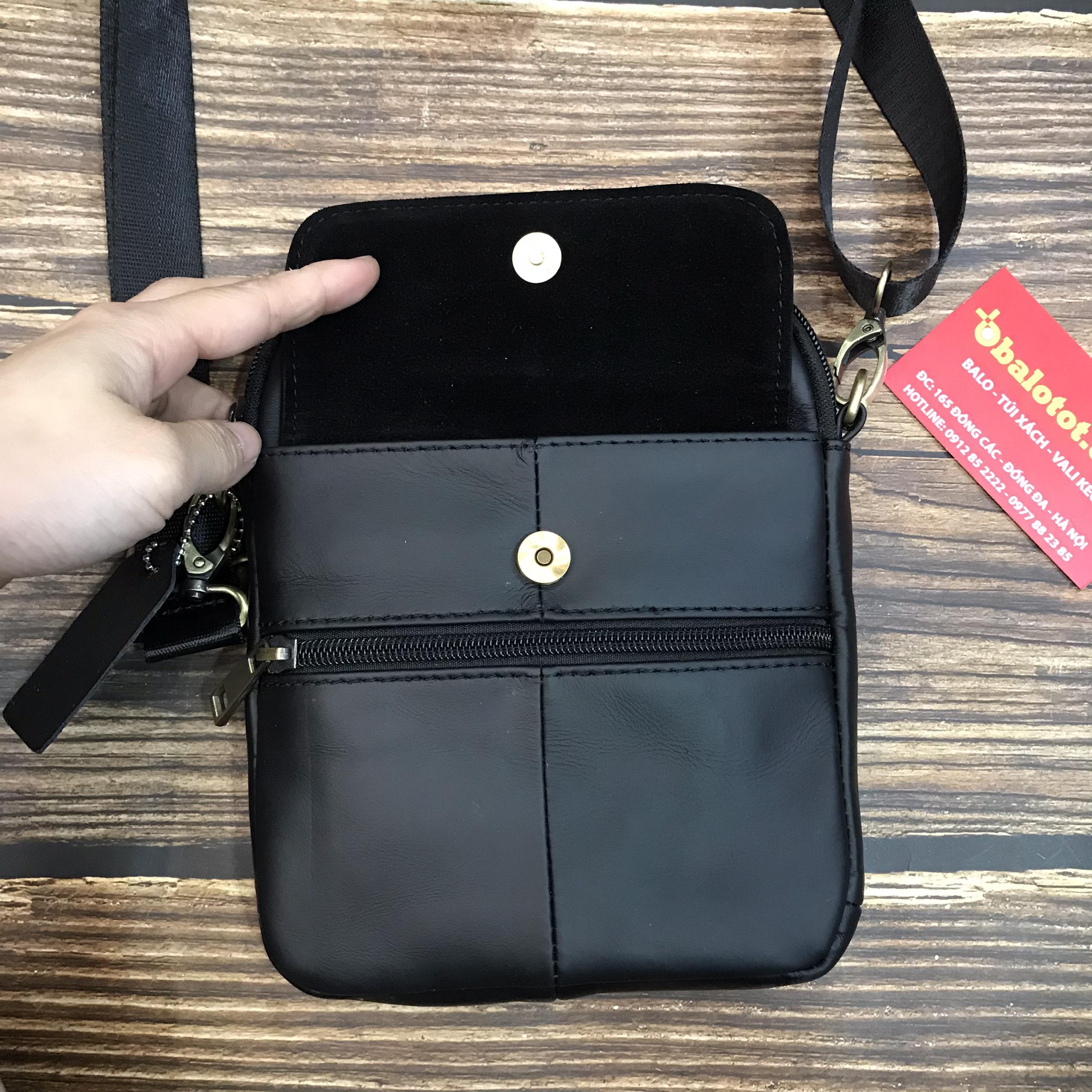 Túi Nam Da Bò Thật Mini Tiện Dụng Thời Trang TD7350 16