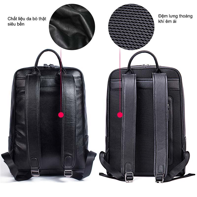 Balo Da Thật Đựng Laptop Nam Nữ Thời trang MÃ BD8110 11